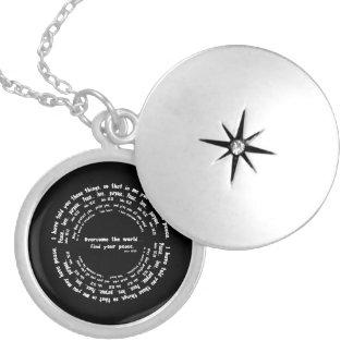 John 16:33 locket necklace