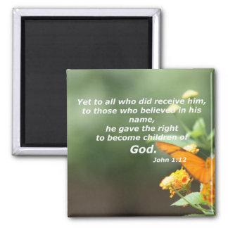 John 1:12 square magnet
