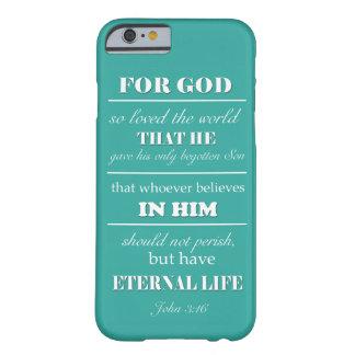 John 3:16 Bible Verse iphone 6 case teal, aqua