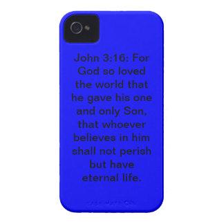 John 3:16 Blue Case-Mate iPhone 4/4S Case