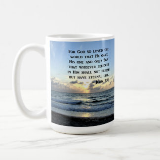 JOHN 3:16 BLUE SKIES SCRIPTURE PHOTO COFFEE MUG