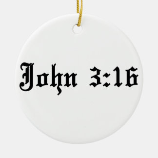 john 3:16 christian bible verse round ceramic decoration