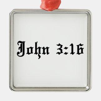 john 3:16 christian bible verse Silver-Colored square decoration