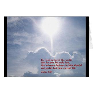 John 3:16  Clouds Greeting Card