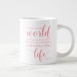 John 3:16 Coffee Cup Mug in Pink