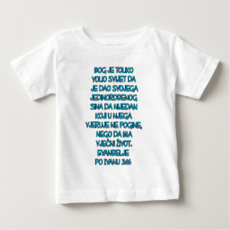John 3:16 Croatian Baby T-Shirt