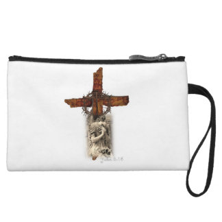 John 3:16 Cross with Crown of Thorns and Angel Wristlet