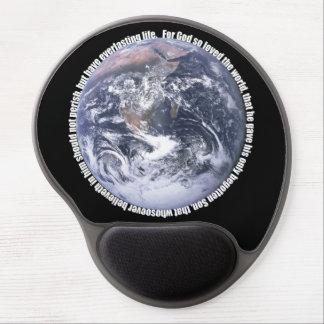 John 3:16 Earth Christian Mousepad Gel Mouse Pad