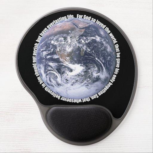 John 3:16 Earth Christian Mousepad Gel Mousepad