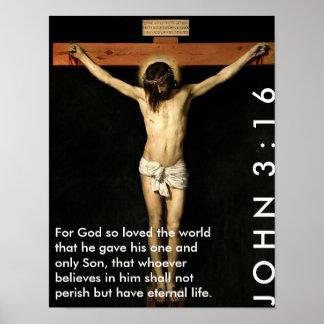 John 3:16 - For God so loved the world... Poster