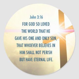 John 3:16 For God so loved the world Sticker