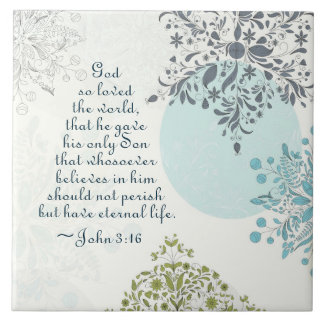 John 3:16 God so Loved the World, Bible Verse Tile