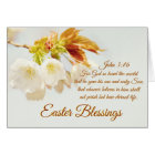 John 3:16 God so loved the world, Easter Blessings Card