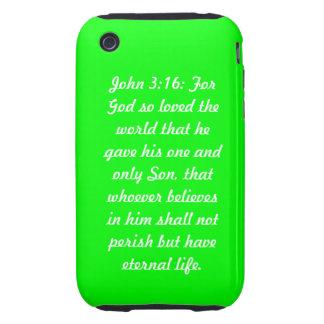 John 3:16 Green iPhone 3G/3GS Case-Mate Tough™ Tough iPhone 3 Case