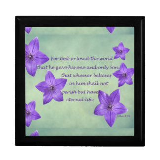 John 3:16 large square gift box