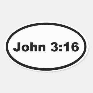 John 3:16 oval sticker