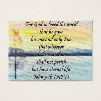 John 3:16 sharing Card