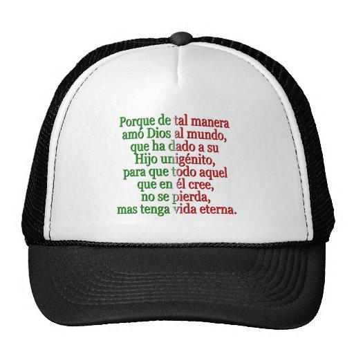 John 3:16 Spanish Mesh Hat