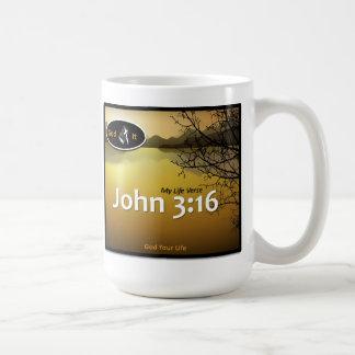 John 3:16 - White-4 Coffee Mugs