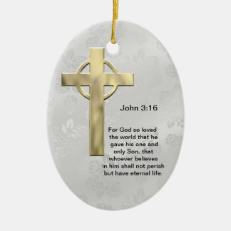 John 3:16 (white) christmas ornaments