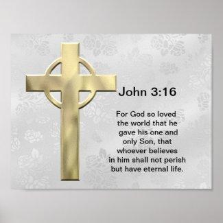 Christian Poster: John 3:16