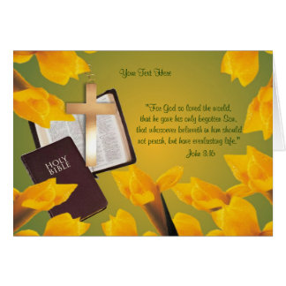 John 3:16 - Wishes for Blessed & Wonderful Easter Card