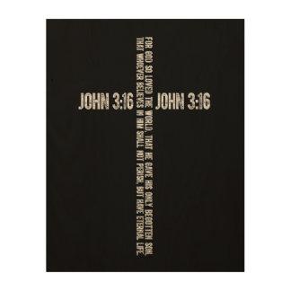 John 3:16 Wood Print