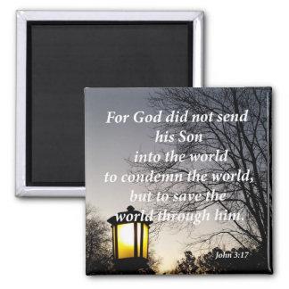 John 3:17 square magnet