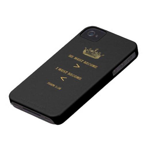 John 3:30 BlackBerry Bold Case (black antique)