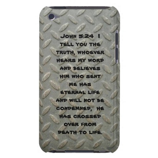 John 5:24 Diamond Plated iPod Touch Case-Mate Case