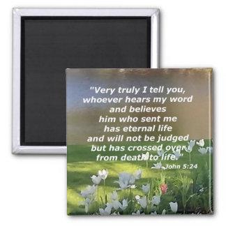 John 5:24 square magnet