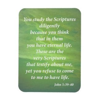 John 5:39-40 magnet