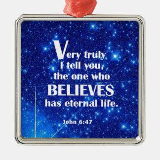 John 6 47 ornament