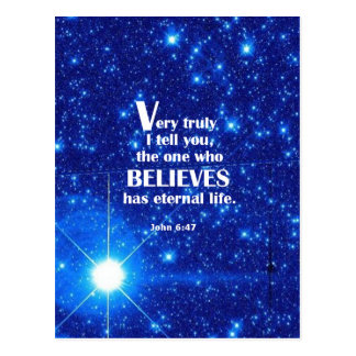 John 6:47 postcard