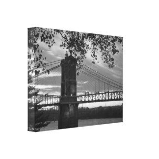 John A Roebling Suspension Bridge 1866 Canvas Print