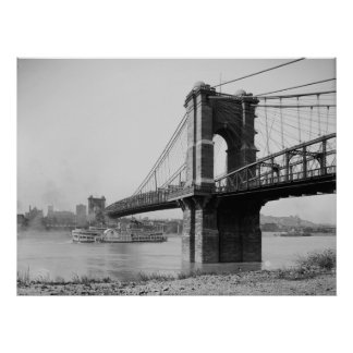 John A. Roebling Suspension Bridge Poster