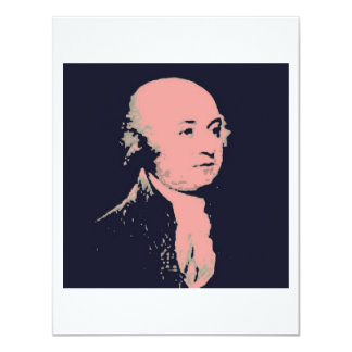 John Adams 11 Cm X 14 Cm Invitation Card