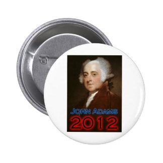 John Adams 2012 Poster Pinback Button