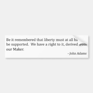 John Adams and Liberty Bumper Sticker