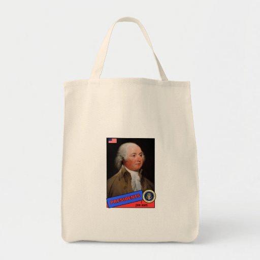 John Adams Baseball Card Canvas Bag
