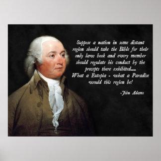 John Adams Bible Quote Poster