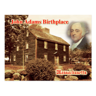 John Adams Birthplace, Massachusetts Postcard
