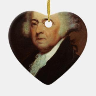 John Adams Ceramic Ornament
