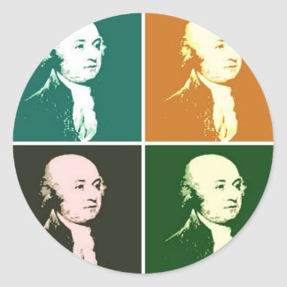John Adams Classic Round Sticker