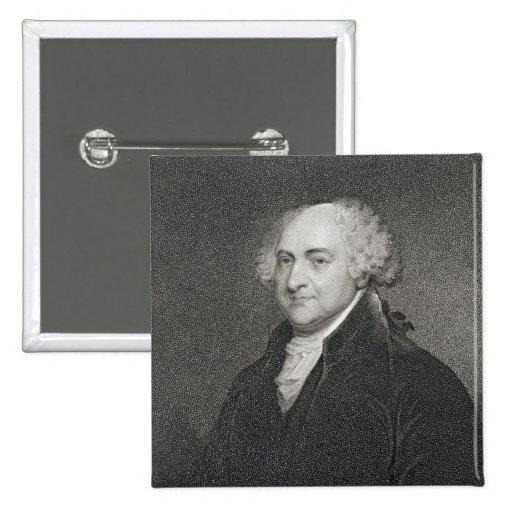 John Adams, engraved by James Barton Longacre (179 Button
