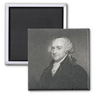 John Adams, engraved by James Barton Longacre (179 Square Magnet