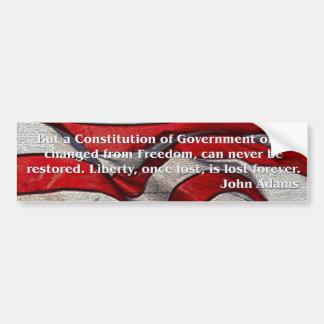 John Adams Founding Fathers Quote Bumpersticker Bumper Sticker