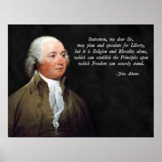 John Adams Morality Quote Poster
