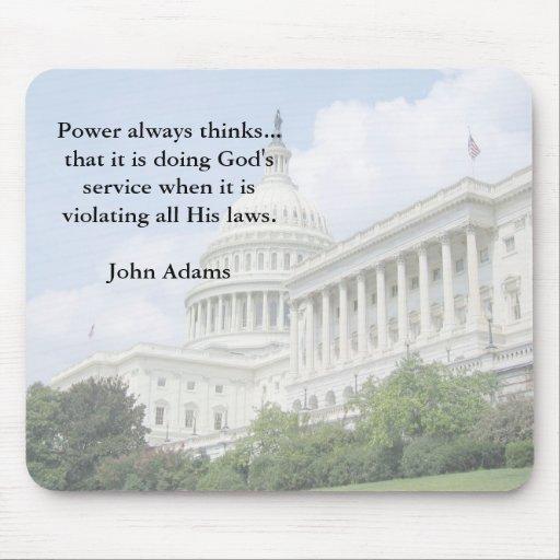 John Adams on Government and God Mousepad