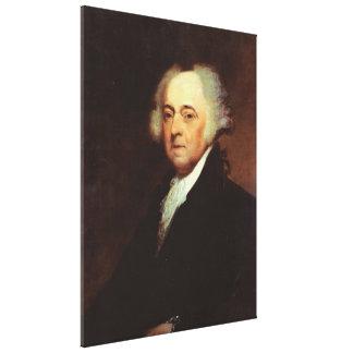 JOHN ADAMS Portrait by Asher B. Durand Print Canvas Print